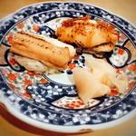 寿しの いく味 - 穴子はタレと塩で半分ずつ
