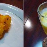 サルガム - ジャガイモの何かとマンゴーラッシー