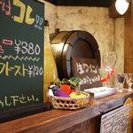 大衆酒場 PING - イタリアから空輸される生ワインの樽サ-バー