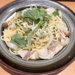 93651930 - 豚肉の白味噌クリームパスタ