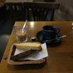 SARASA - ブラックペッパーチーズとチョコ&クランベリーのビスコッティ&自家焙煎コーヒー(さらさブレンド)1
