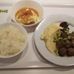 IKEAレストラン - スウェーデン・ミートボール8個&マッシュポテト&ライス