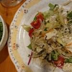 酒菜 ひだりうま - ピーマン昆布&豆腐アボカドサラダ