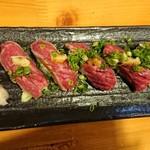 酒菜 ひだりうま - 牛たたき寿司