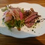 インコントロ - 前菜(アオダイのカルパッチョと鴨のロースト)