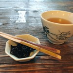 喫茶去 - お口直しの昆布の佃煮 ほっこりします♡