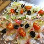 市場直送!新鮮な鮮魚のカルパッチョ