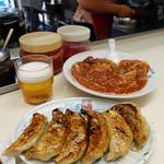 永新 - 料理写真:餃子と小エビのケチャップカラシ