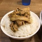 若草カレー本舗 - 肉ライス完成