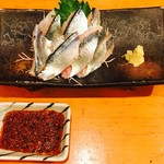釣り魚の店舟武 - サンマは唐辛子醤油で