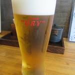 そば二十三 - 「生ビール」
