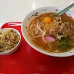ラーメン ○天 - 料理写真:徳島ラーメン 玉子入り