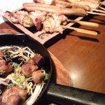 9368311 - 焼き鳥たちと鶏の柚子胡椒焼き