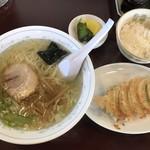 ラーメンの店 金精 - 料理写真:ラーメンセット(塩)