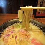 ラーメンダイナー GOGO宝来軒 - 牛旨味塩ソバ雷(麺)