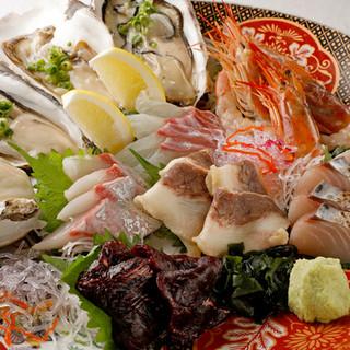 【自慢の厳選鮮魚】それぞれに合った味わい方でお楽しみください