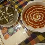 ラージカレー - (左)サグマトンマサラ  (右)バターチキン