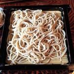 蕎麦処 多賀 - お蕎麦。硬めで提供されます。