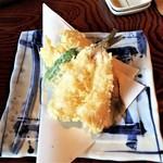 蕎麦処 多賀 - かます天ぷら550円(メニュー外)