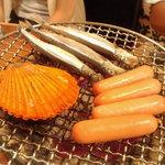 海 - 料理写真:浜焼き3品盛り