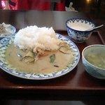 937914 - グリーンカレー定食(グリーンカレー・スープ・デザート)