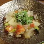 料理屋なかむら - 冷鉢:自家製豆腐土佐酢仕立て