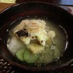 料理屋なかむら - 食事:焼き鱸の茶漬け