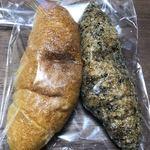 デリショップ 西洋銀座 - 塩バターフランス(プレーン&黒ごま)のパッケージ