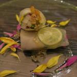 O2 - 帆立と和梨の生春巻き 柚子胡椒2