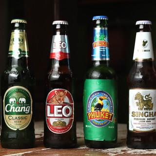 <100種類以上>の多彩なアルコールに魅了*タイのお酒も◎
