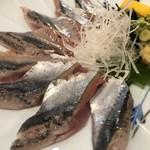 魚々市 - 秋刀魚のお刺身       ('2018.9月)
