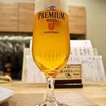 鮨 八代 - 生ビールはプレモル