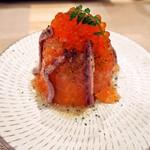 鮨 八代 - サーモンいくらのせポテトサラダ