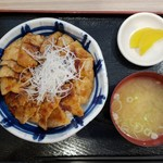 93722917 - 大雪さんろく笹豚丼大盛り(1280円)です。