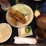 とんかつ かつ壱 - エビフライ定食1,350円