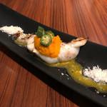 クッチーナ ラトリエ - 長崎五島列島から届いた鮮魚のレアグリル野菜のソース