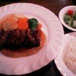 9373498 - 国産豚バラ肉のワイン煮(サラダ・ライス付)