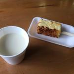 湧水亭 - とうふ田楽+豆乳