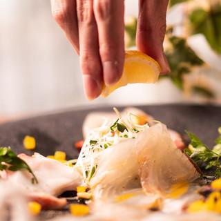 瀬戸内直送活〆鮮魚のカルパッチョ