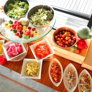 瀬戸内×地中海食材や天然酵母パン等こだわり素材ランチブッフェ