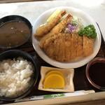 天草 - ロース、えびフライミックス 1350円