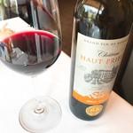 レストラン・モリエール - Ch. Haut Prieur メルローマルデック2015