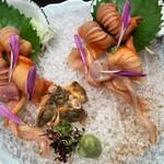 味三昧 - 活赤貝刺身