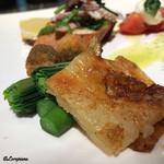 アリーブ - オオユリコユリのポッリートにジャガイモとチーズのフリコ