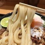 Nihombashisanukiudonhoshino - 2018.9.9  肉ぶっかけうどん 冷