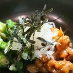 大衆割烹 藤八 - オクラ納豆