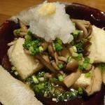 トリカゴ - 揚げ出し豆腐 たっぷりきのこ