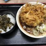 あり賀せいろう - かき揚げ高菜丼セット580円
