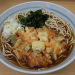 爽亭 - 海鮮かき揚げ天そば440円