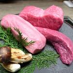 93768801 - 怒涛の見せ肉、神戸牛タンとはらみ、そして松茸
